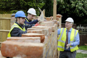 Trainee bricklayers