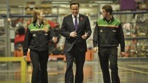 David Cameron talks apprenticeships