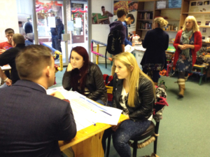 Advisers and customers at Bicester ApprenticeSHOP